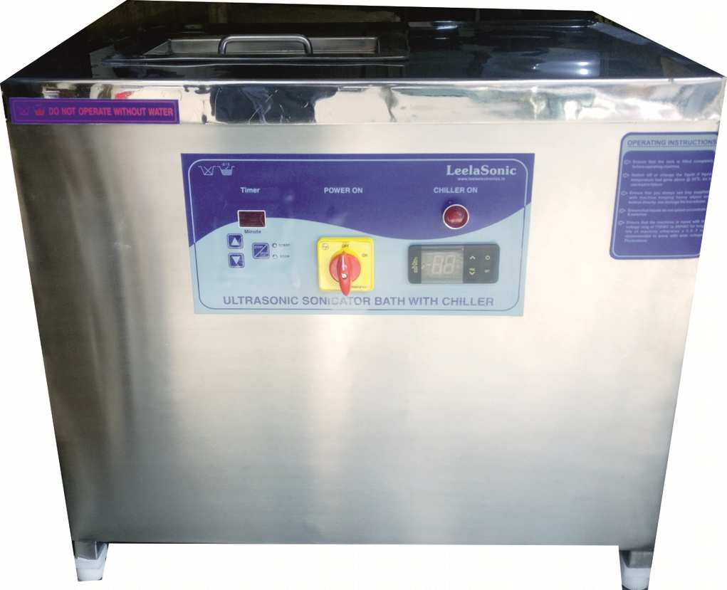 ultrasonic bath sonicator with chiller